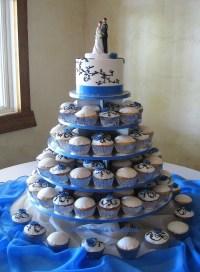 Elegant Cupcake Wedding With Cornflower Blue Roses ...
