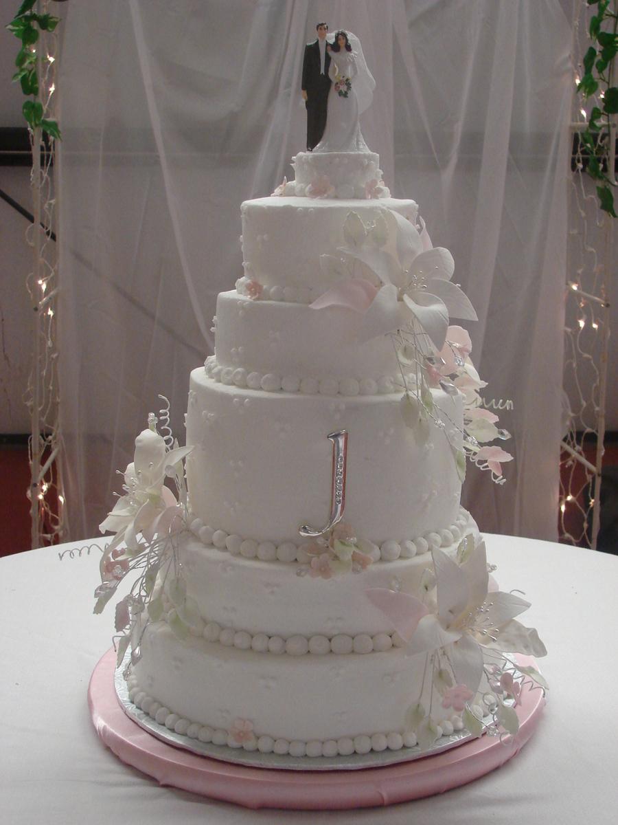 Stargazer Lily Wedding Cake  CakeCentralcom