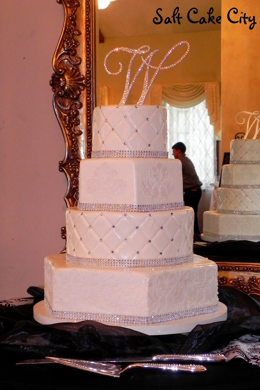 Blinged Out Wedding Cake  CakeCentralcom