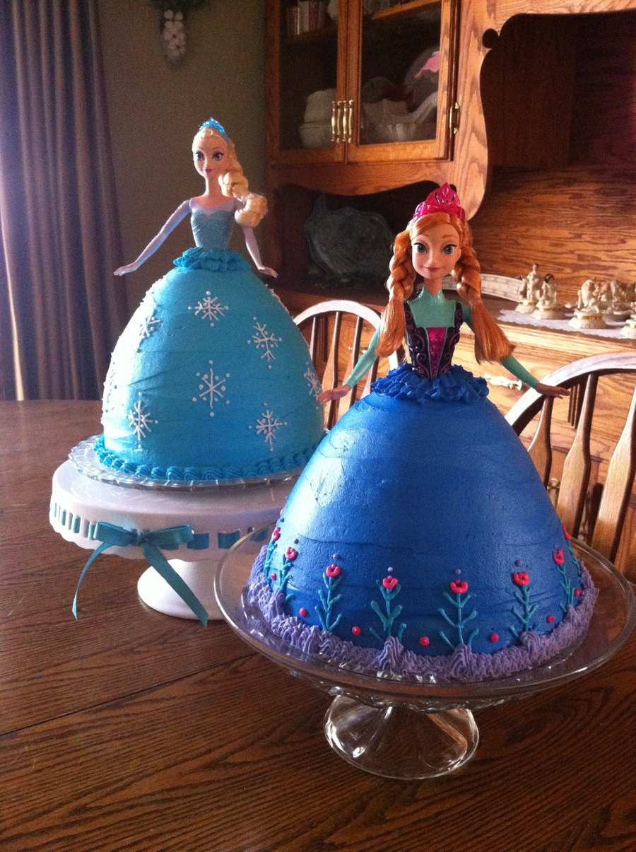 Elsa And Anna Birthday Cakes Cakecentral Com