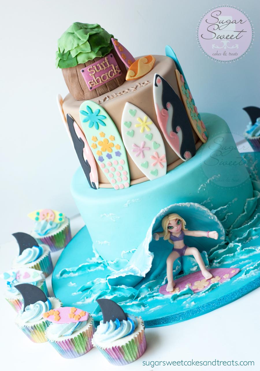 Surfer Girl Cake  CakeCentralcom