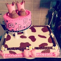 Cowgirl Baby Shower Cake Buttercream And Fondant ...