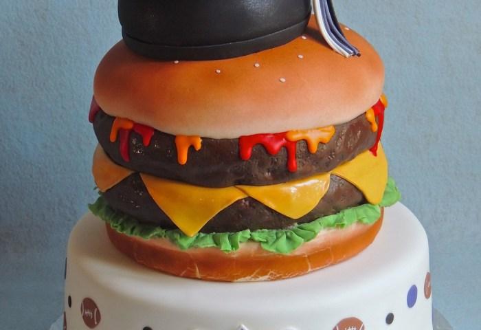 Cheeseburger Graduation Cake Cakecentralcom