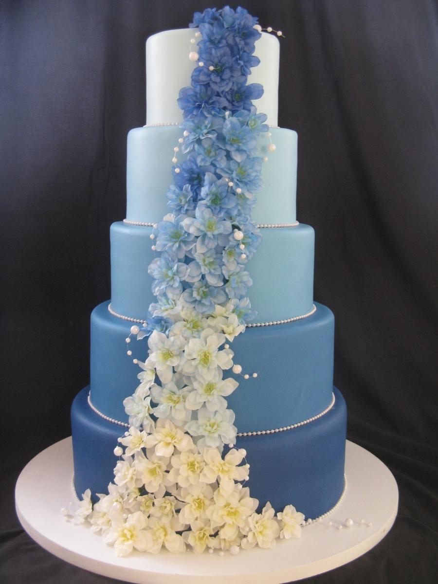 Cascade Of Blue  CakeCentralcom