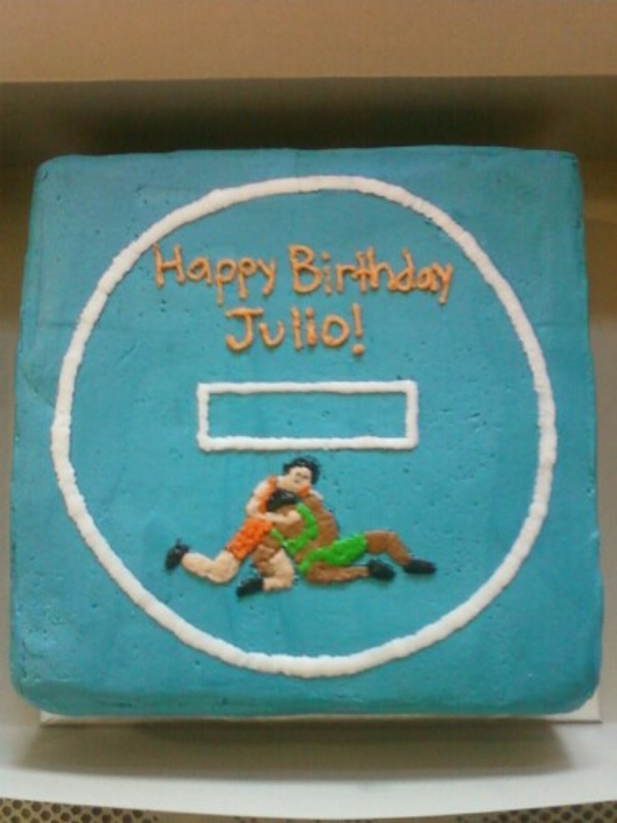 High School Wrestling Birthday Cake Cakecentral Com