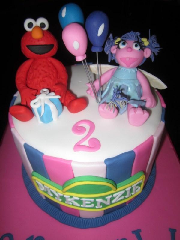 Sesame Street Elmo And Abby Birthday Cake Ideas
