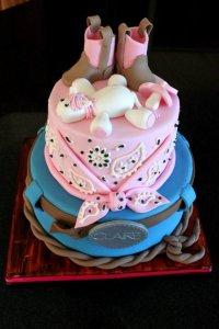 Cowboy Baby Shower - CakeCentral.com