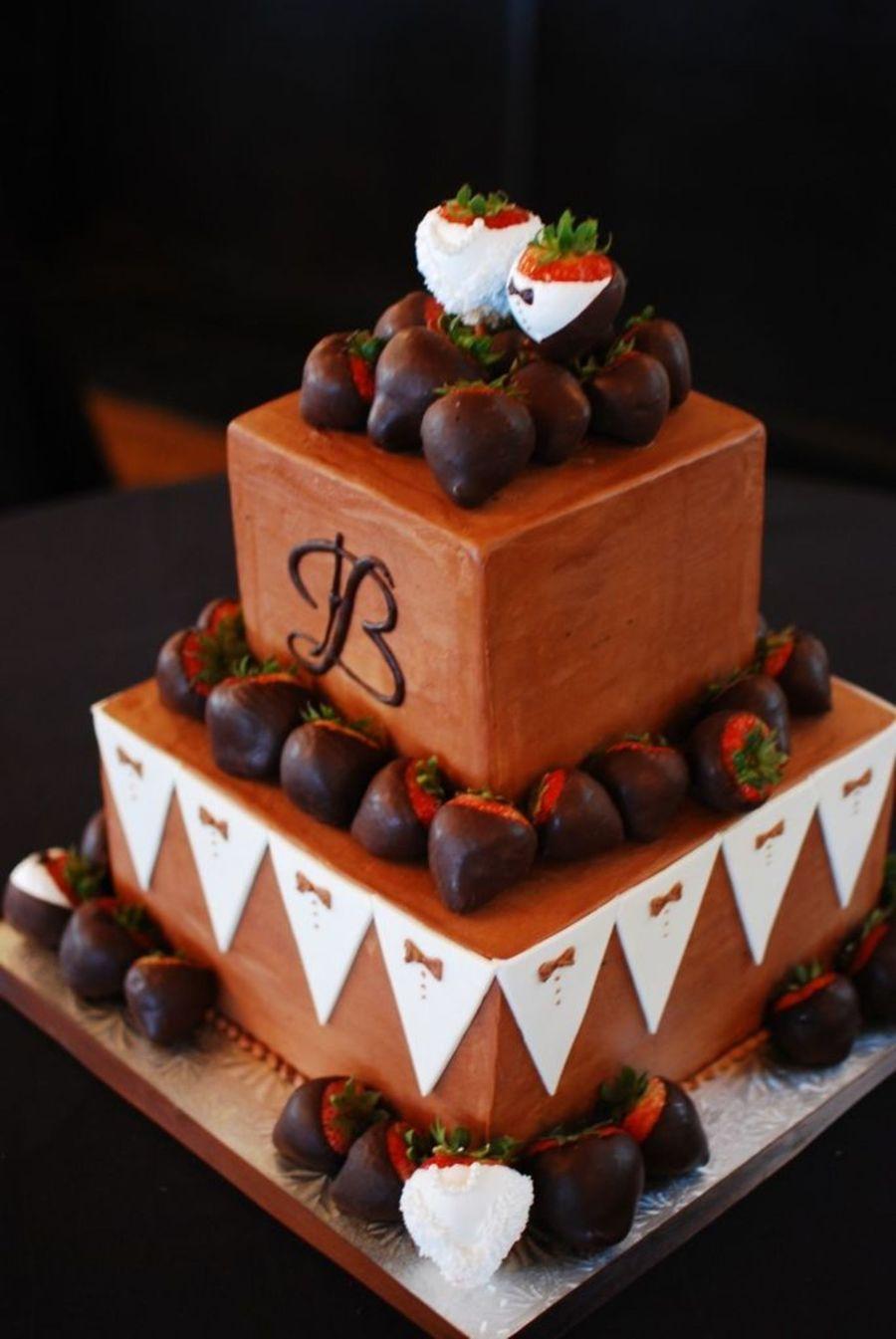 Tuxedo Themed Grooms Cake