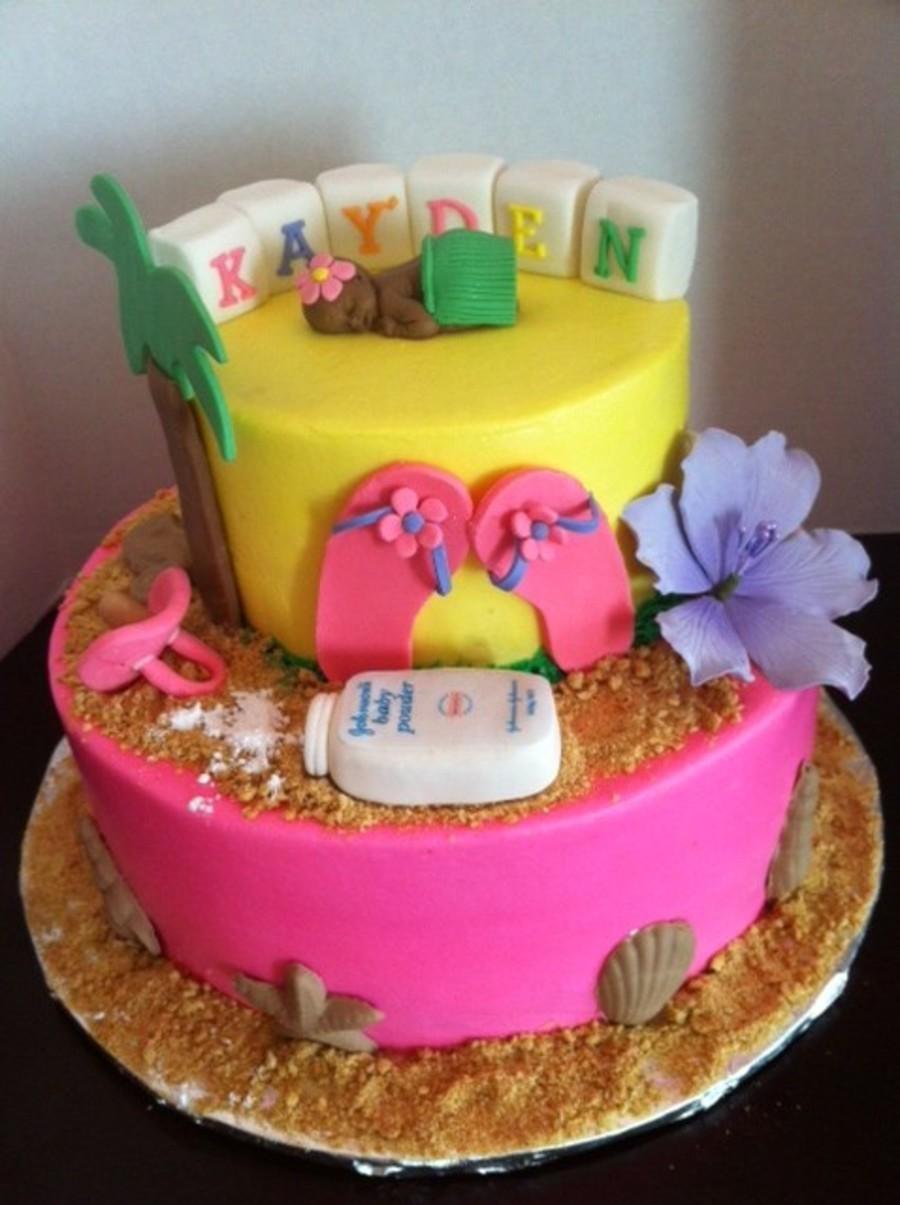luau themed cakes