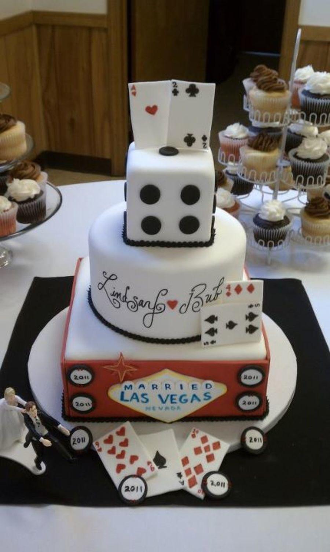 Las Vegas Themed Wedding Cake  Cakecentral