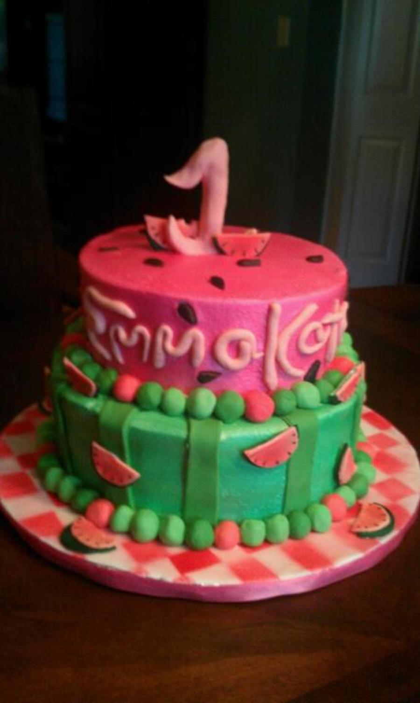 Watermelon Birthday Cake Cakecentral Com