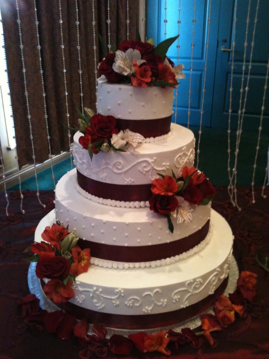 Burgundy Wedding Cake Cakecentral Com