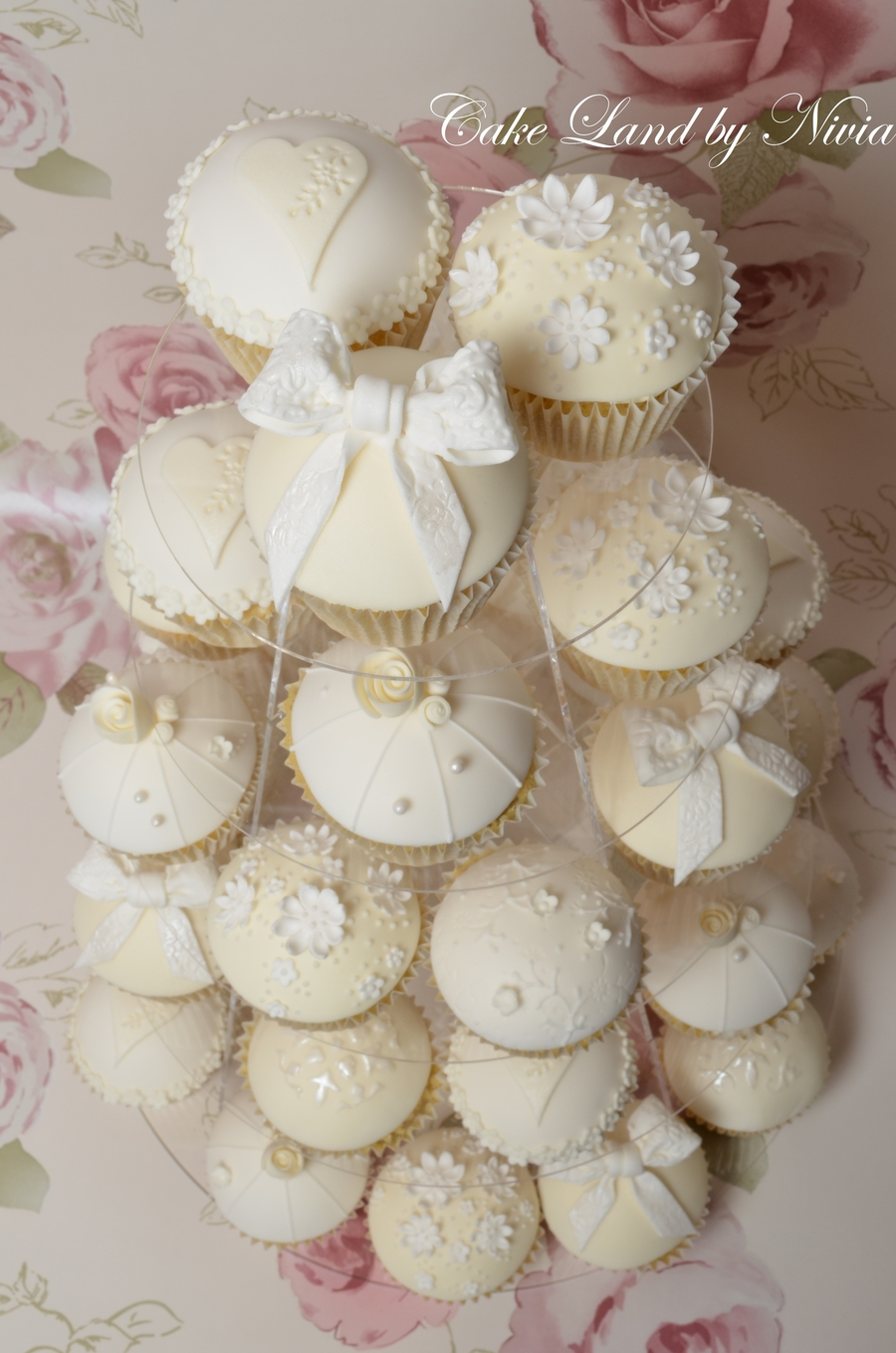 White And Ivory Wedding Cupcakes  CakeCentralcom
