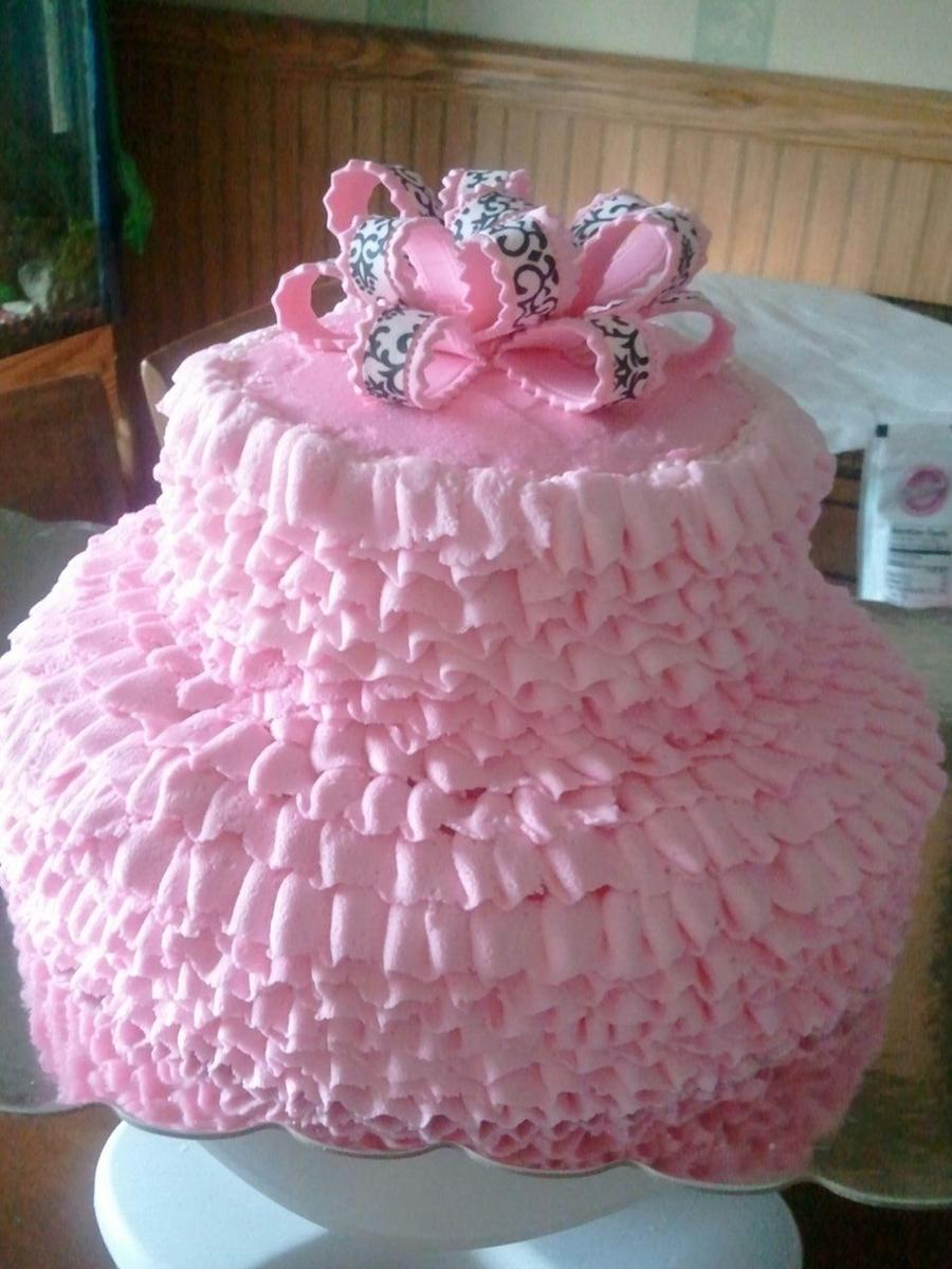 Pink Tutu Cake  CakeCentralcom