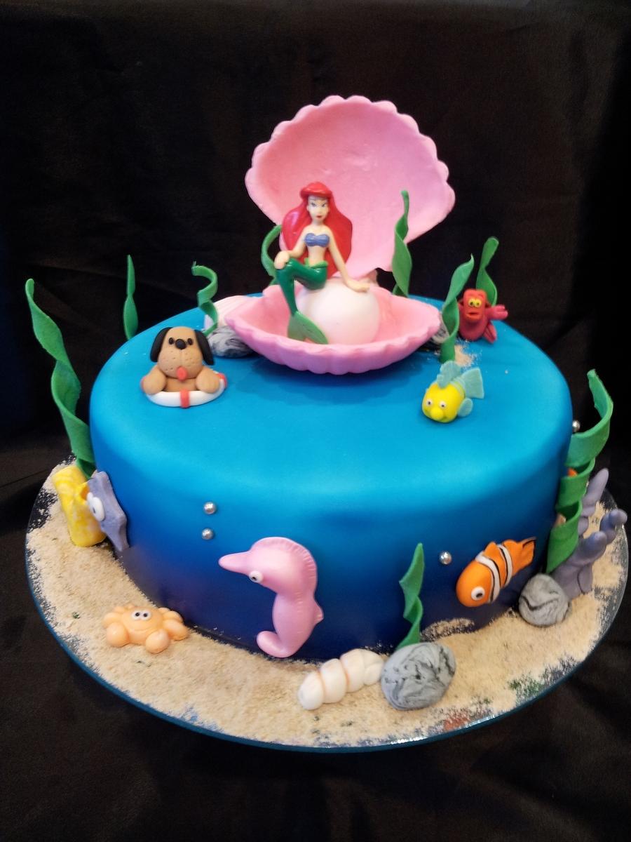 Ariel Mermaid Cake Cakecentral Com
