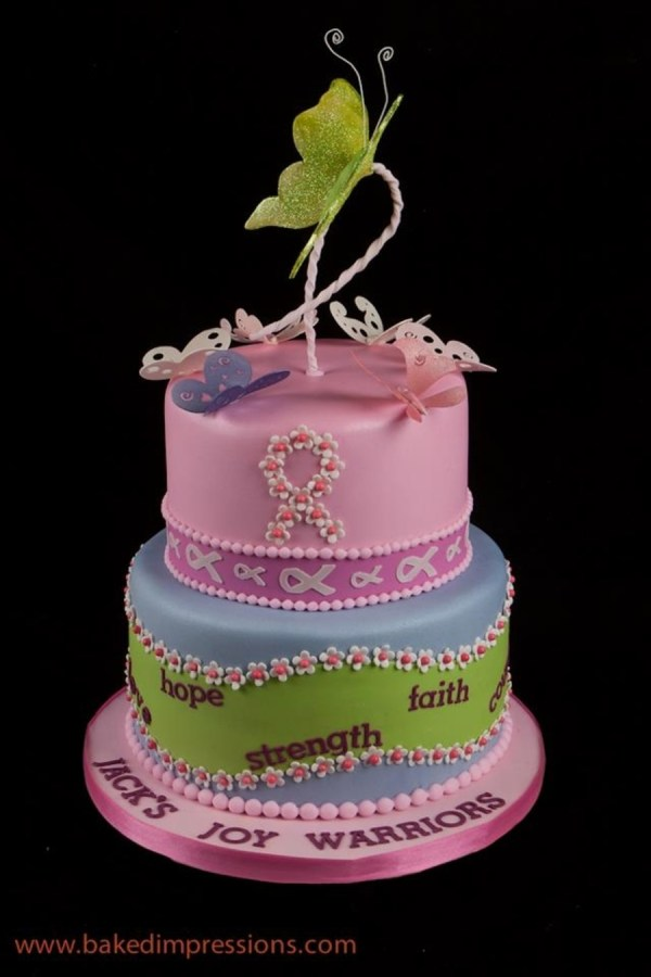 Breast Cancer Fight Birthday Cake