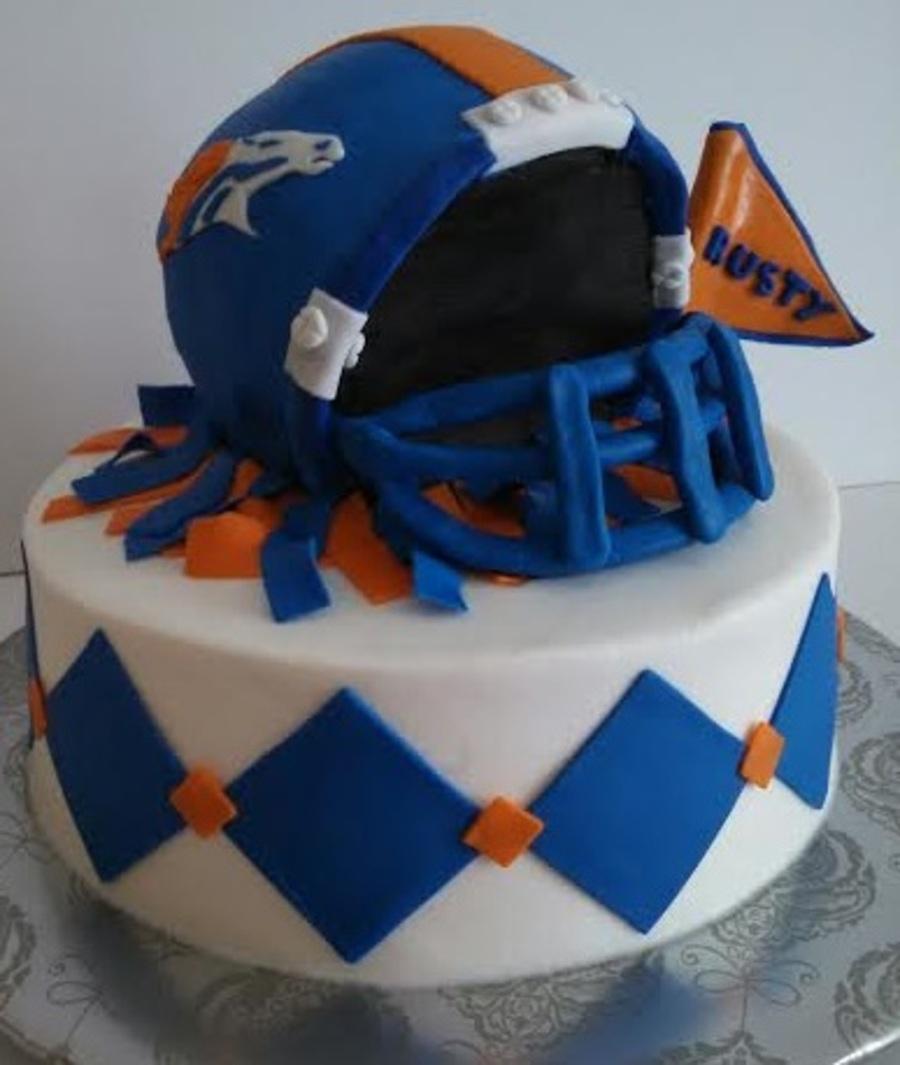 Denver Broncos Football Birthday Cakes