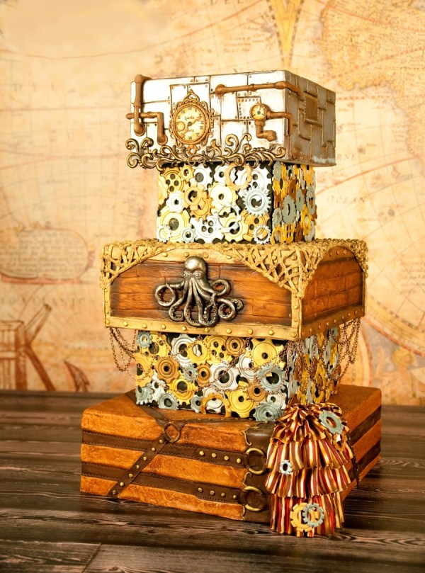 Steampunk Wedding Pirate Cake