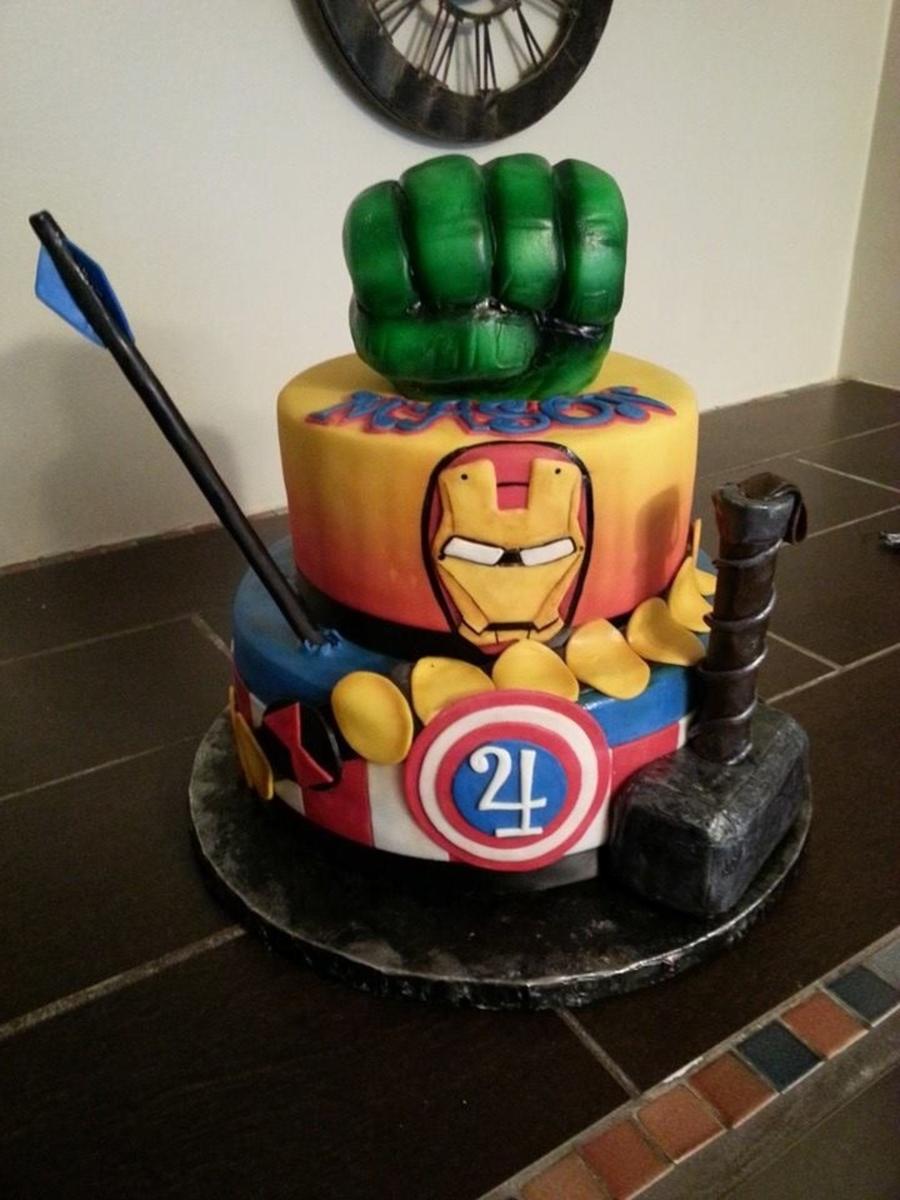 Avengers Cake  CakeCentralcom