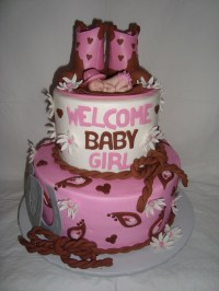 Cowgirl Baby Shower - CakeCentral.com
