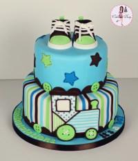 Train Baby Shower Cake - CakeCentral.com