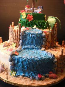Luau Wedding Cake