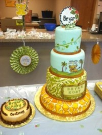 Hand Painted Lion King Baby Shower Cake & Matching ...