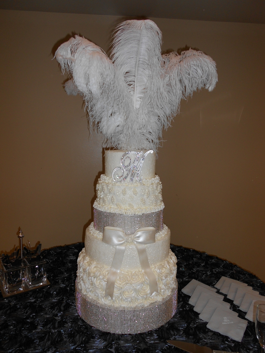 Glitz And Glam Wedding Cake  CakeCentralcom