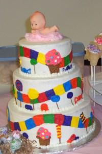 Candyland Theme Baby Shower Cake - CakeCentral.com