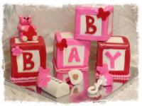 Pink & Red Baby Blocks