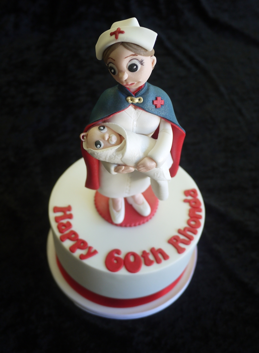 Birthday Cake For A Midwife Cakecentral Com