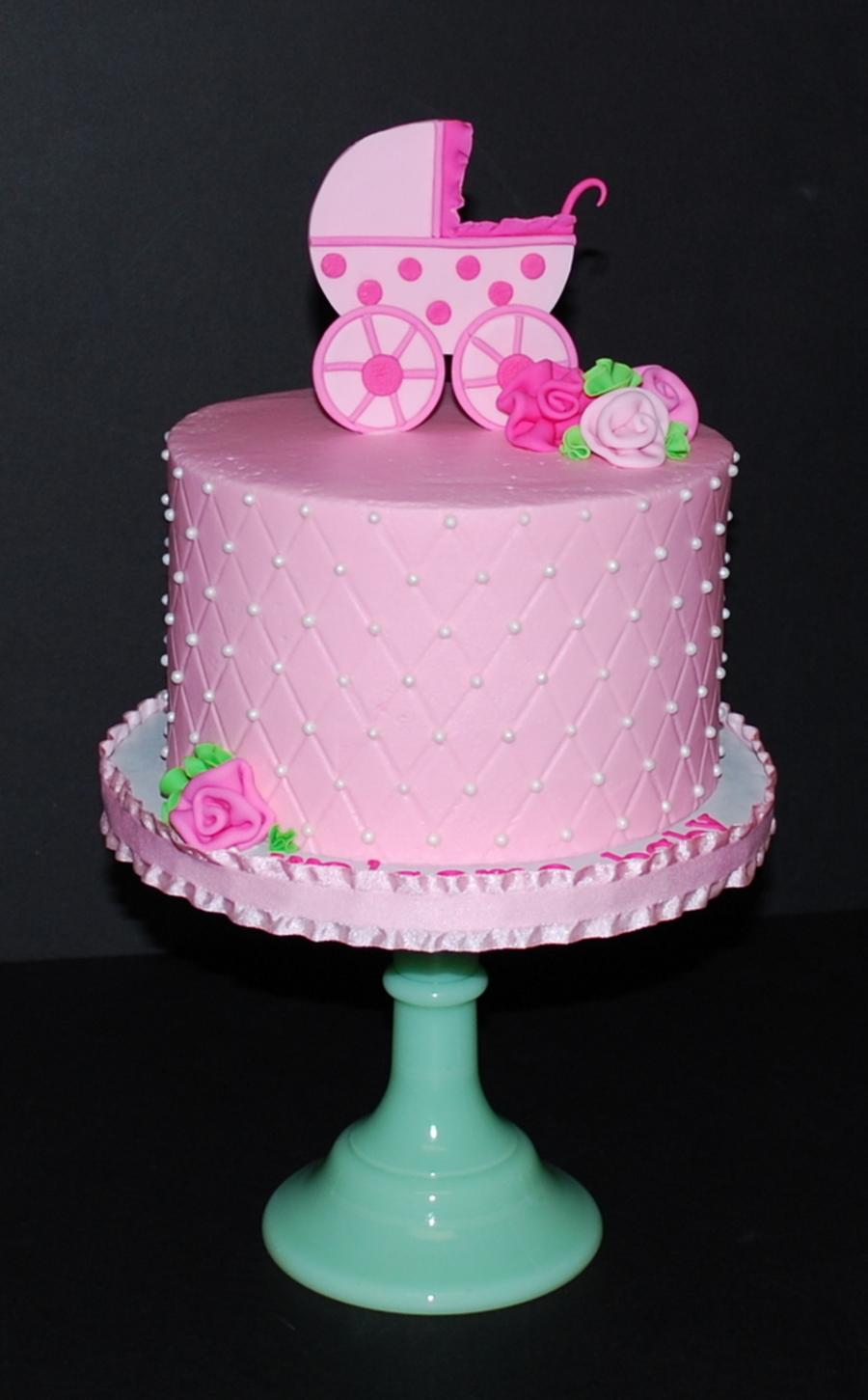 Baby Shower Carriage Cake  CakeCentralcom