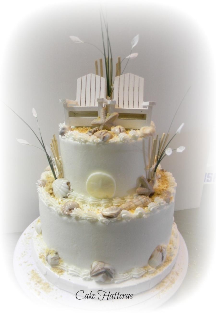 Fall Beach Wedding Cake  CakeCentralcom