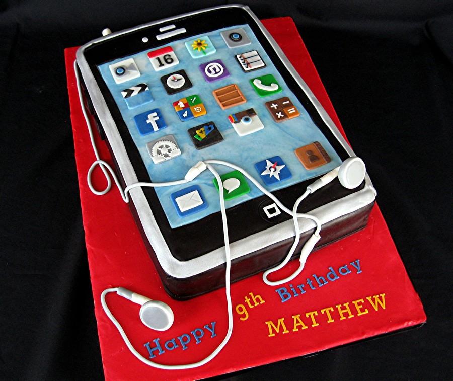 Iphone Birthday Cake Cakecentral Com