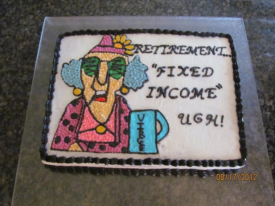 Maxine Retirement Cake Cakecentral Com