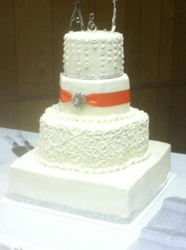 Square Petal Hexagon And Wedding Cake Bling Band