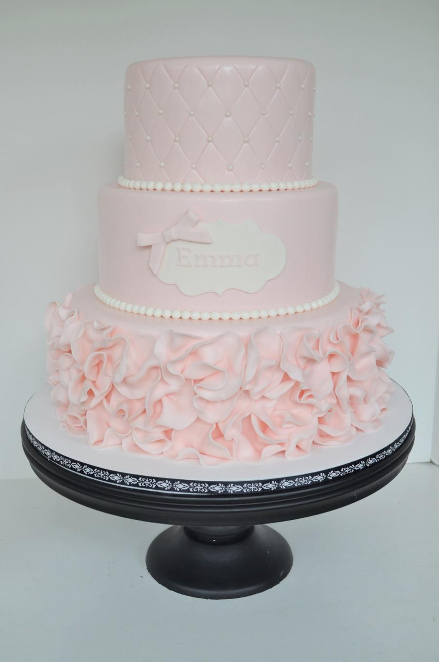 Pink Ruffle Cake  CakeCentralcom