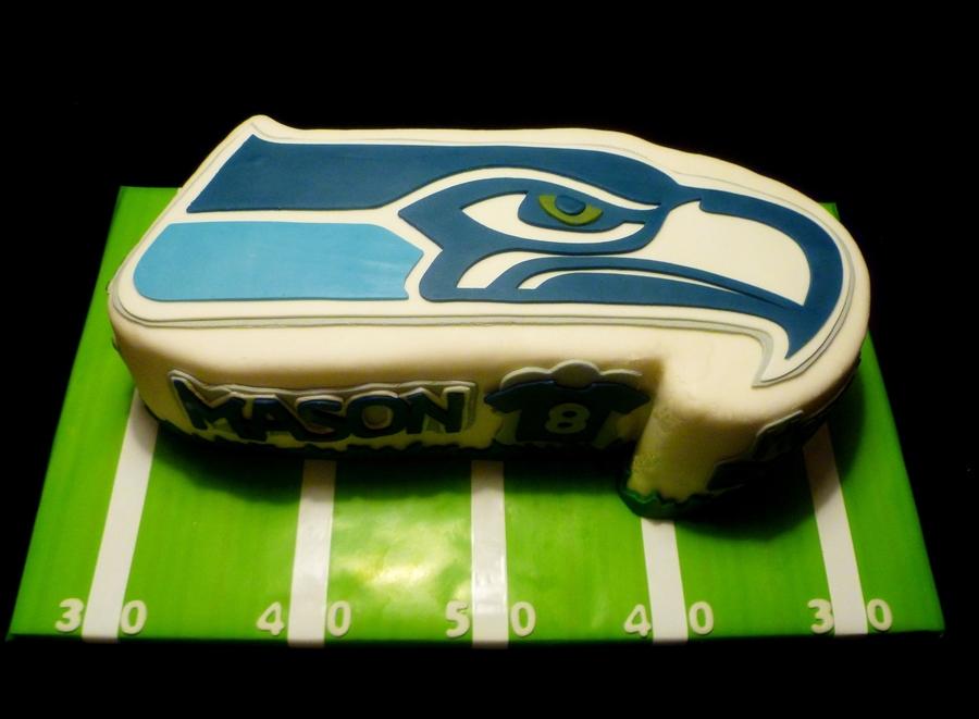 Seattle Seahawks Cake  CakeCentralcom