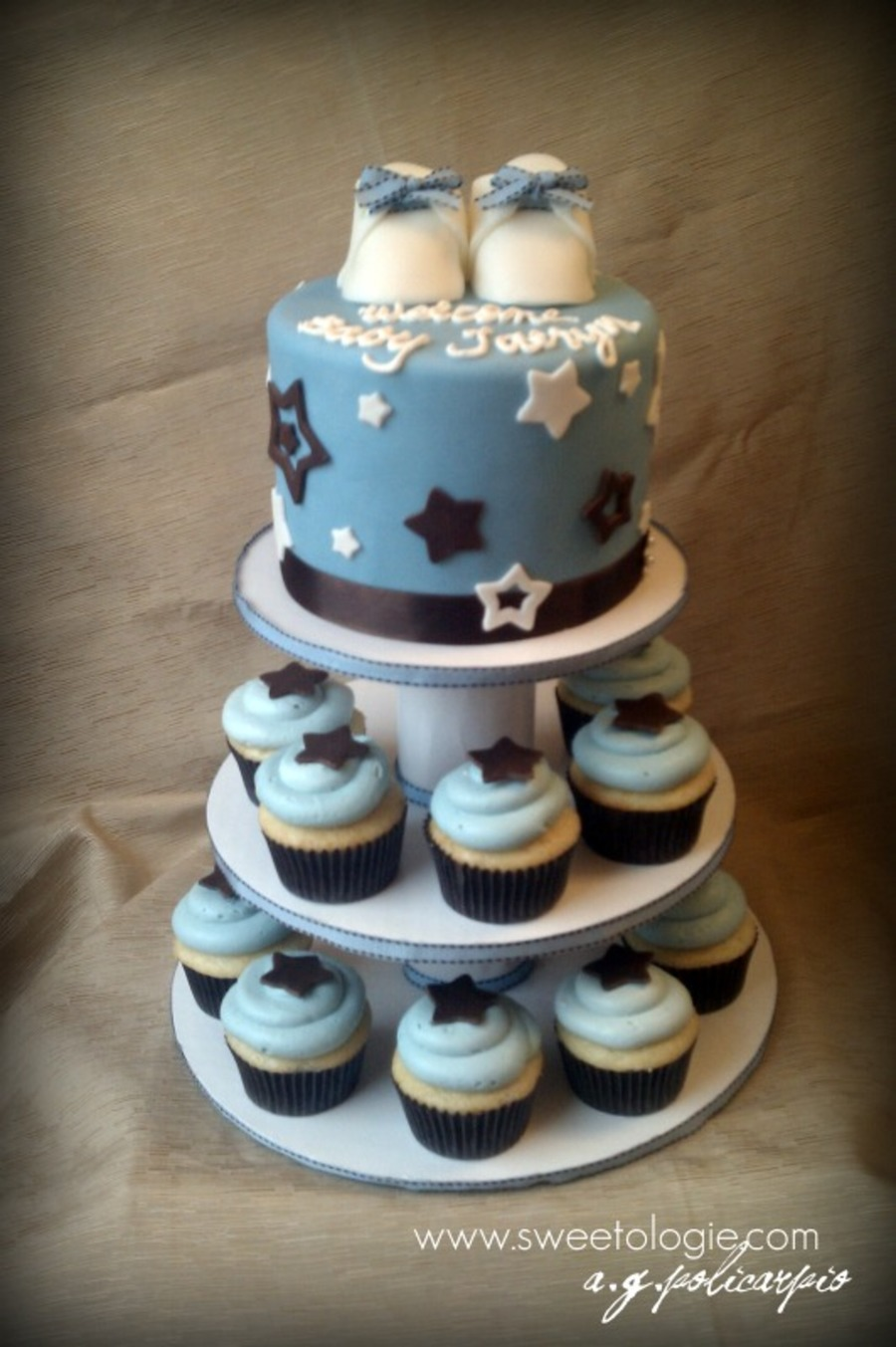 Star Baby Shower Cupcake Tower Cakecentral Com