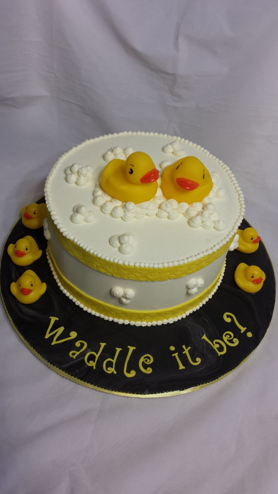 Waddle It Be A Gender Reveal Cake  CakeCentralcom