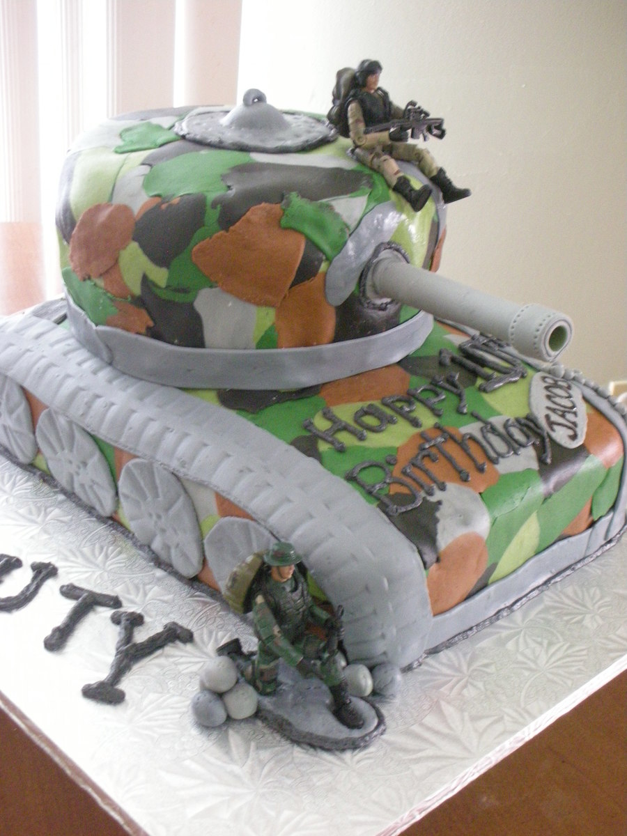 Call Of Duty Black Ops Tank Birthday Cake Cakecentral Com