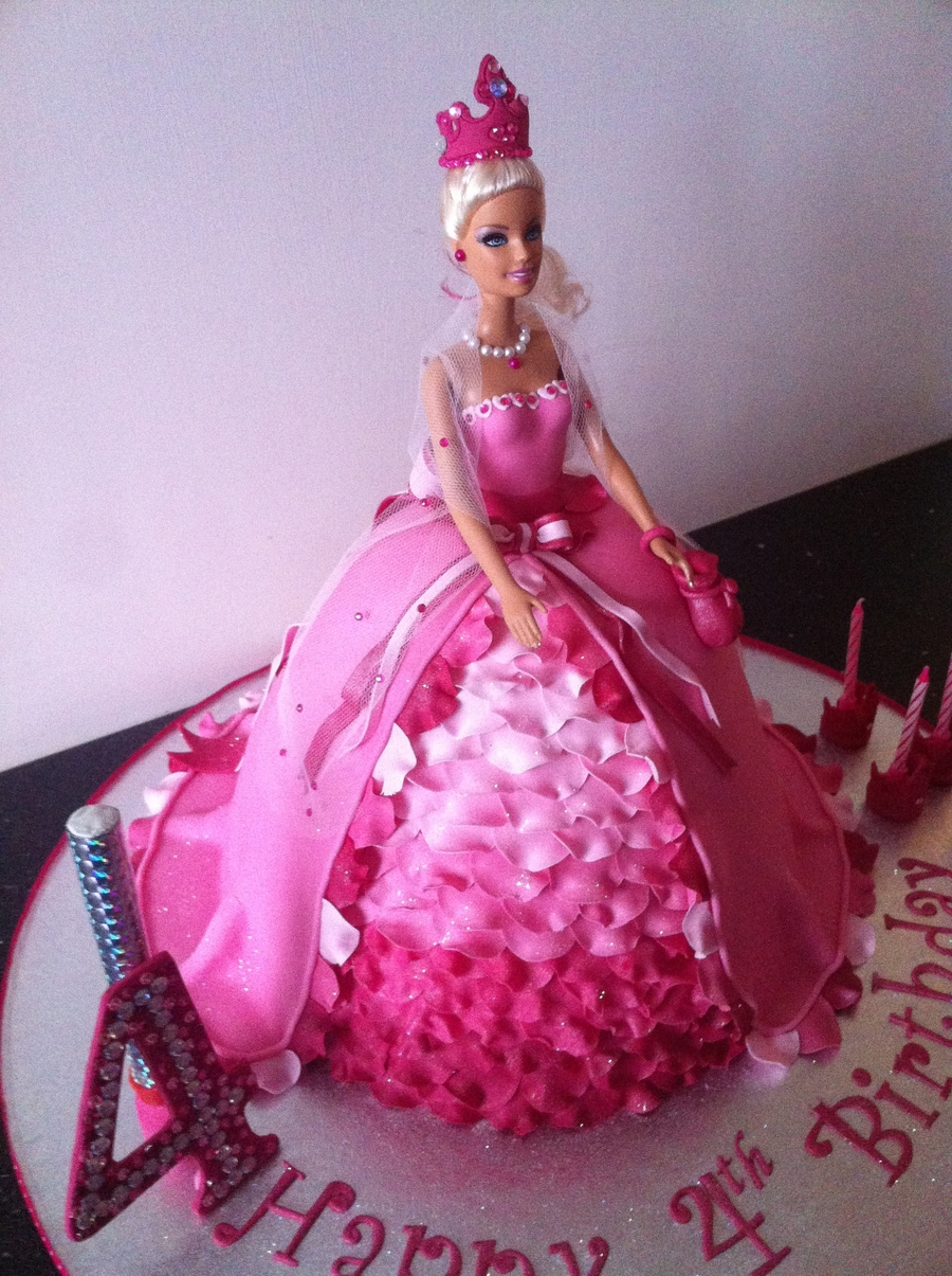Barbie Pink Doll Cake