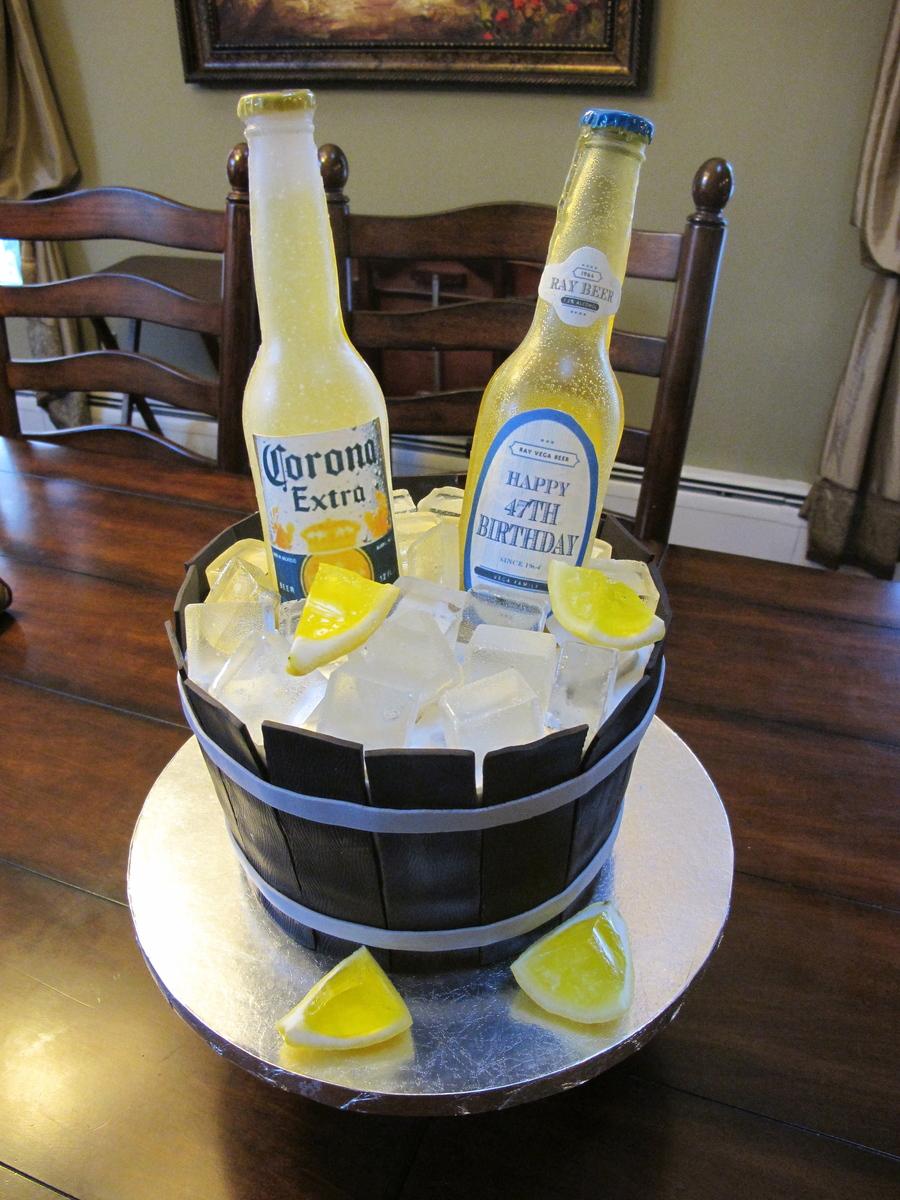 Beer Bottle Cake CakeCentral Com