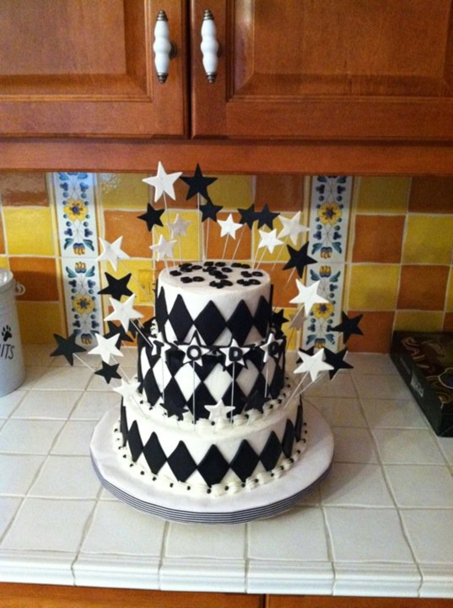 Black And White 50Th Birthday  CakeCentralcom