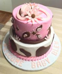 Cowgirl Theme Baby Shower Cake - CakeCentral.com