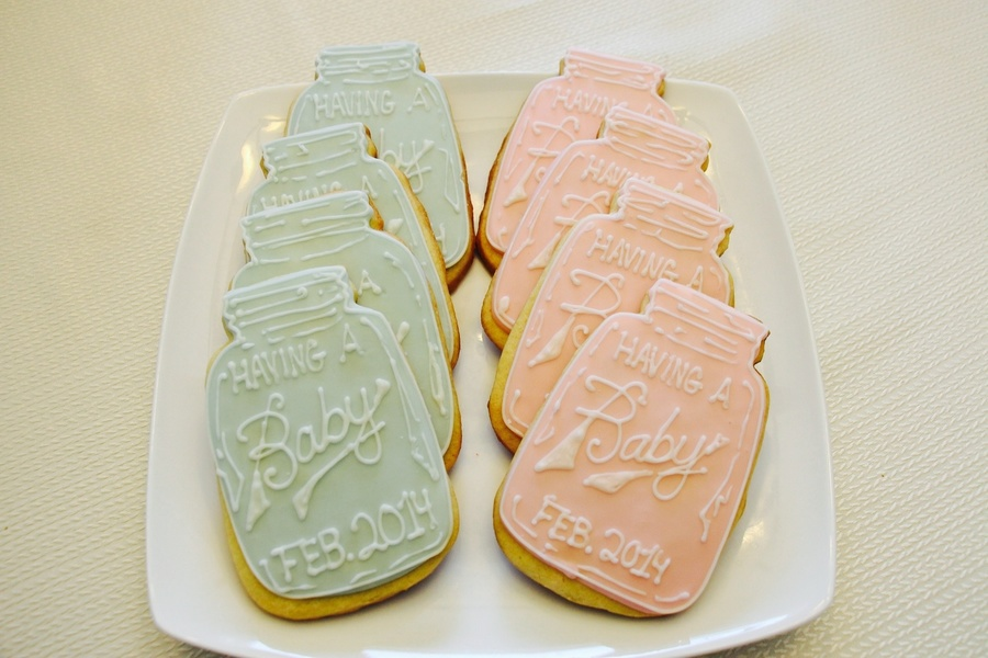Mason Jar Baby Shower Cookies  CakeCentralcom
