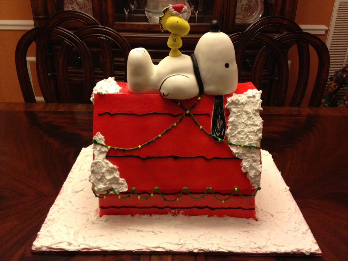 Snoopy Christmas Cake - CakeCentral.com