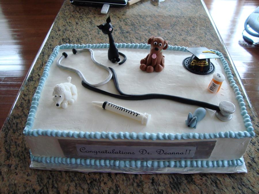 Veterinarian Graduation Cake  CakeCentralcom