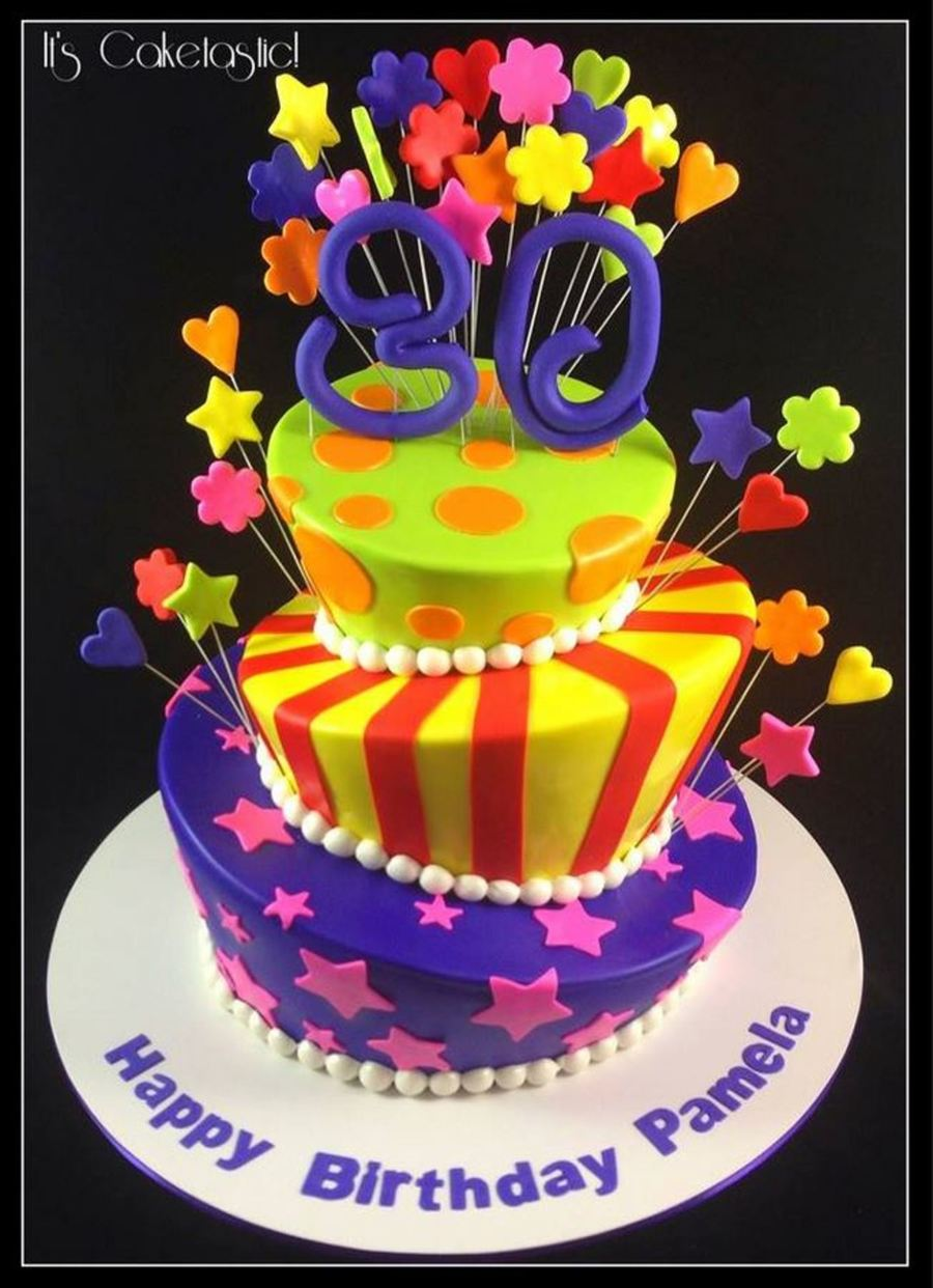 Very Colourful Topsy Turvy Cake  CakeCentralcom