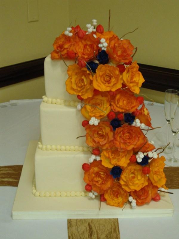 quotorange Rose Summer Wedding Cake39 CakeCentralcom